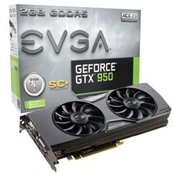 EVGA GeForce GTX 950 Superclocked ACX2.0 Gaming 2GB GDDR5 PCIe3.0 Graphics Card